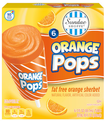 Sundae Shoppe Orange Pops