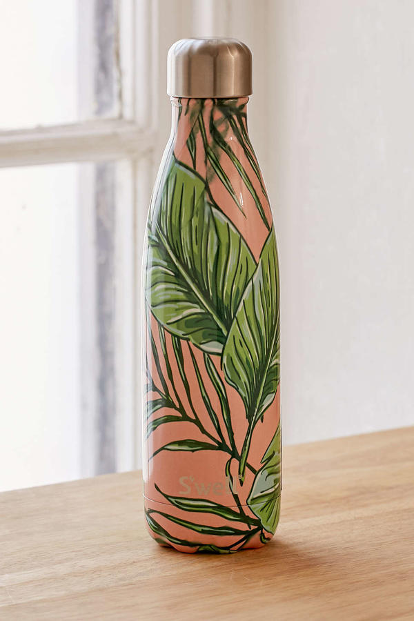 Water Bottle With Leaves