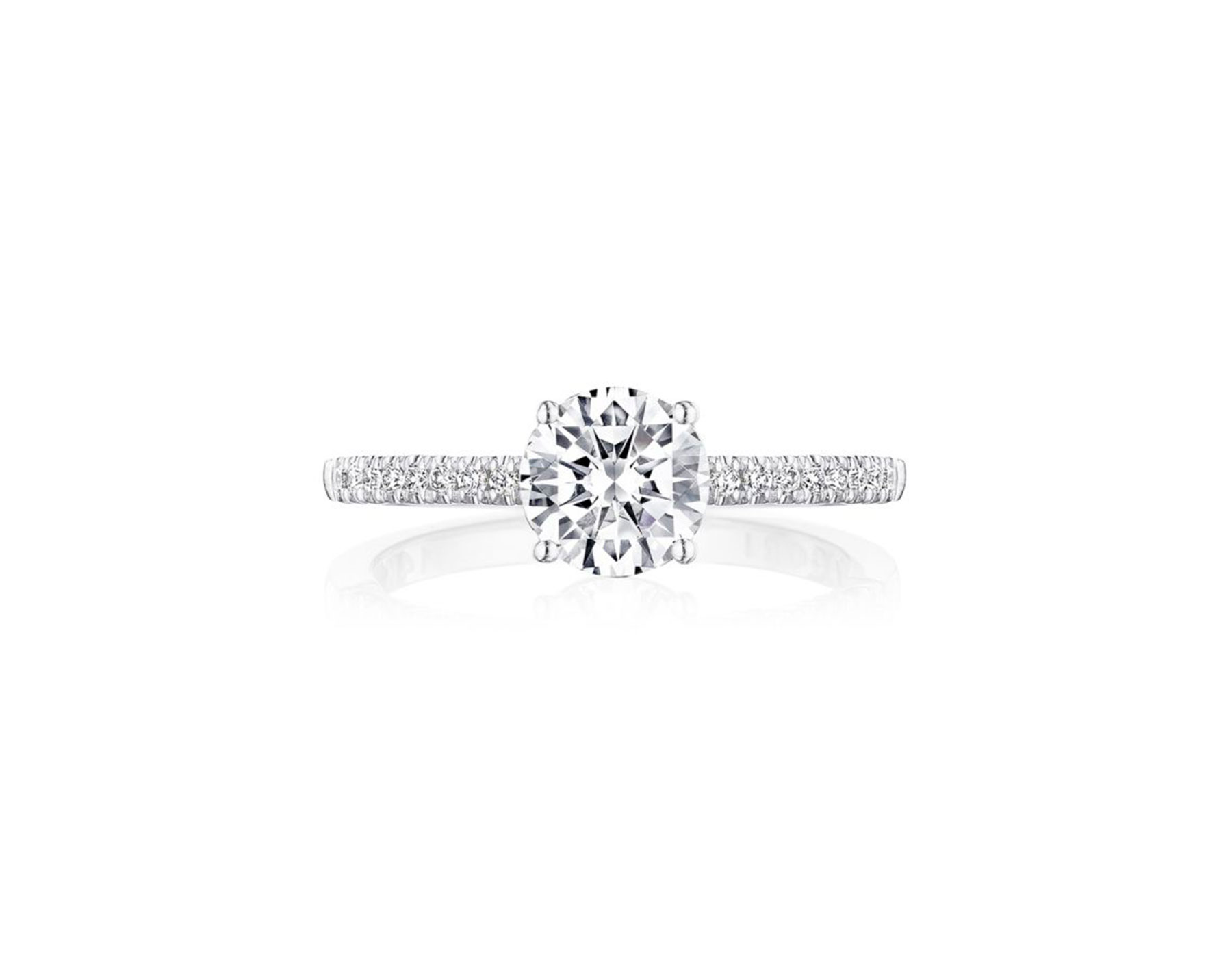 tacori round diamond solitaire ring