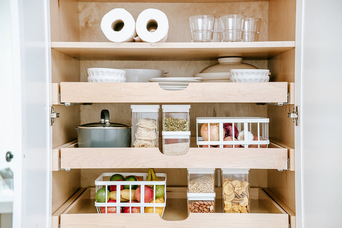 Camille Styles Pantry Shelves