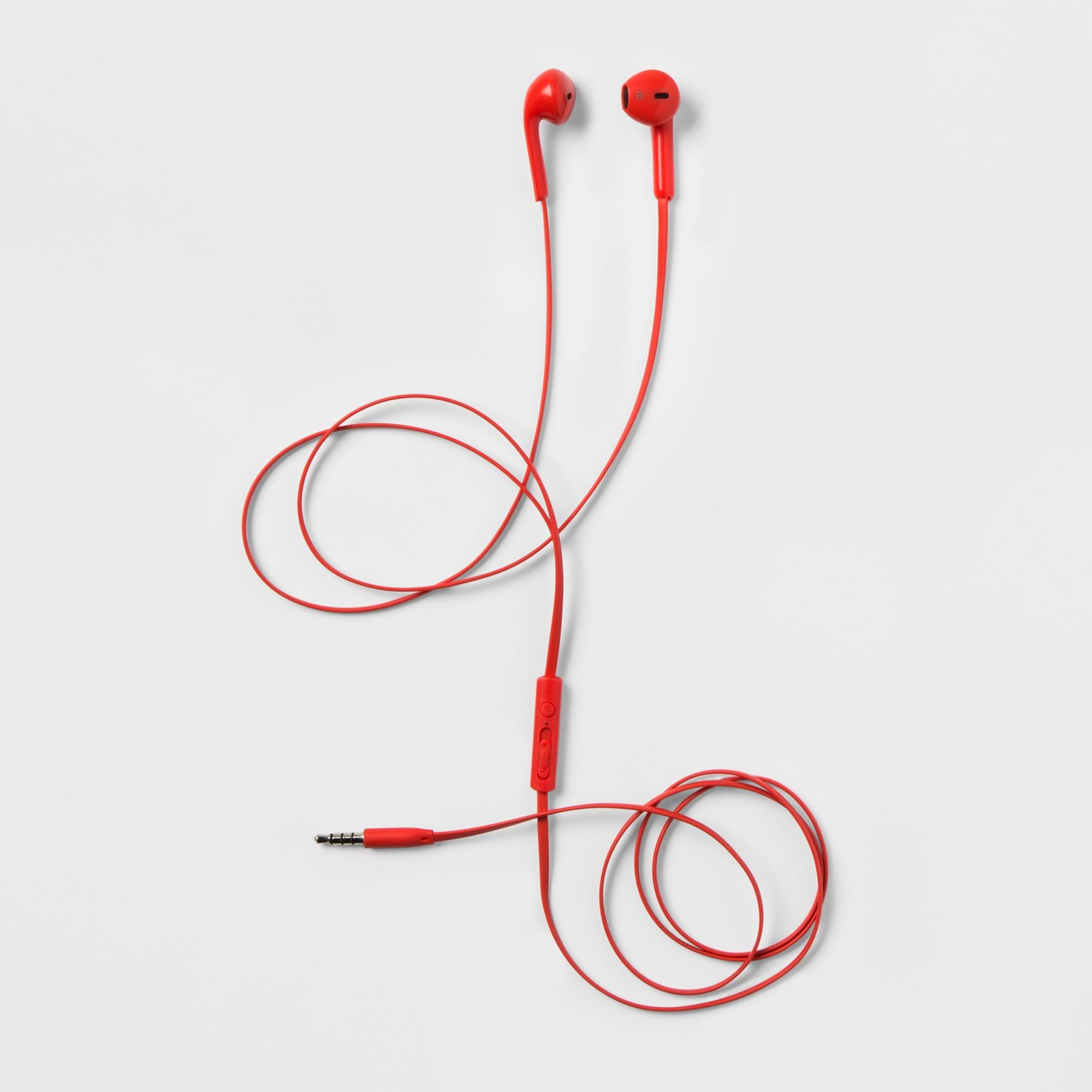 Bright Red Earbuds