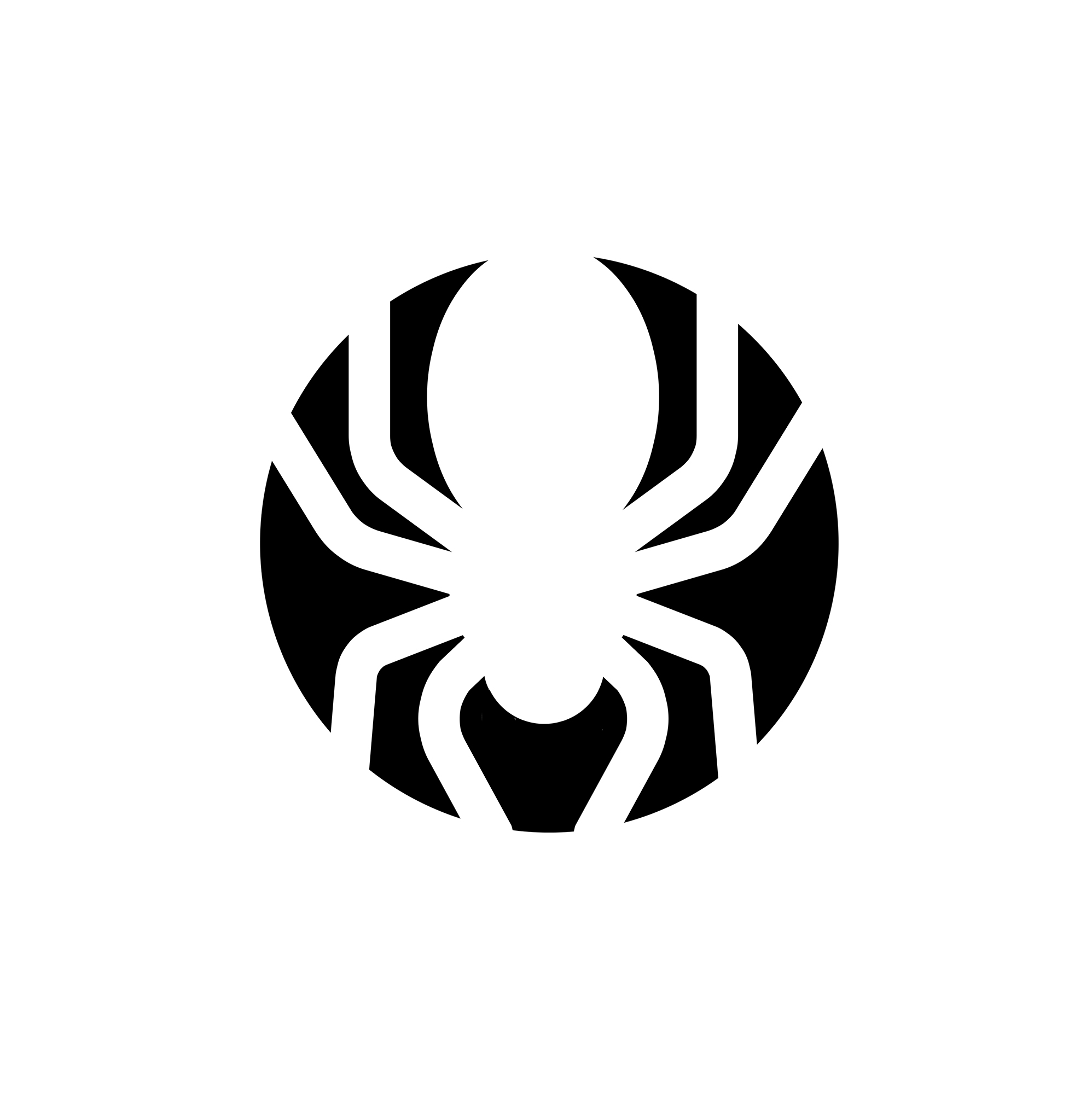 Pumpkin carving stencil: Spider template print-out
