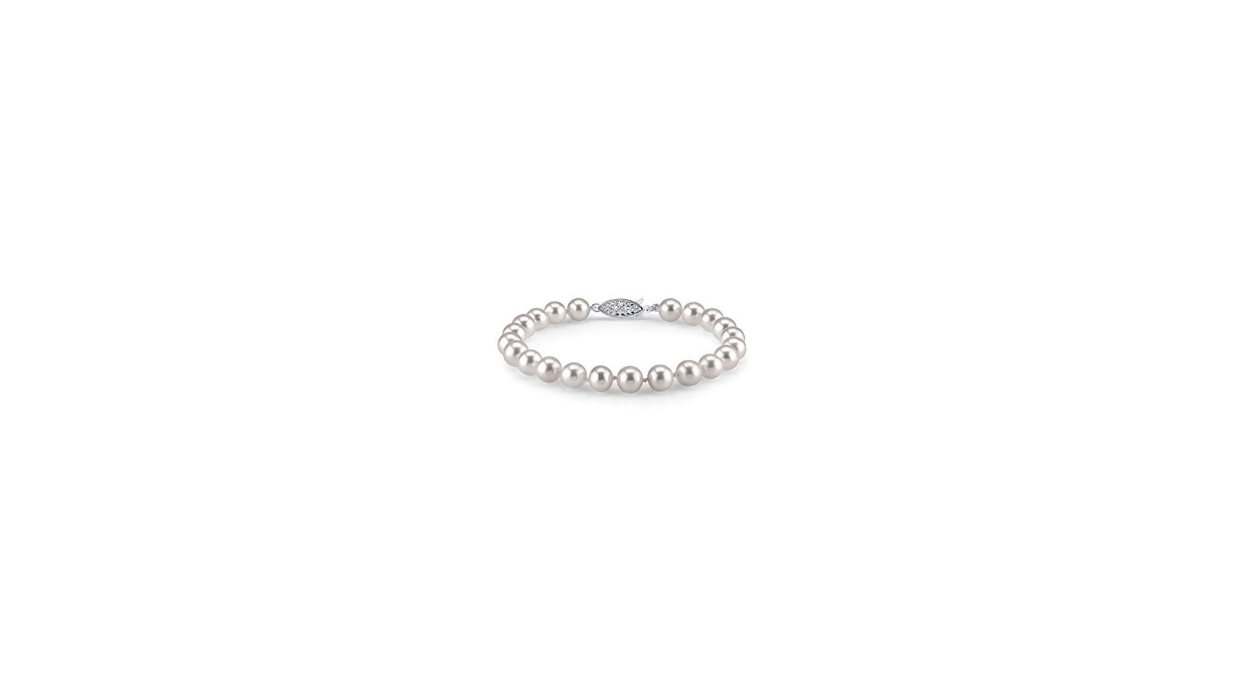 The Pearl Source 14K Freshwater Pearl Bracelet