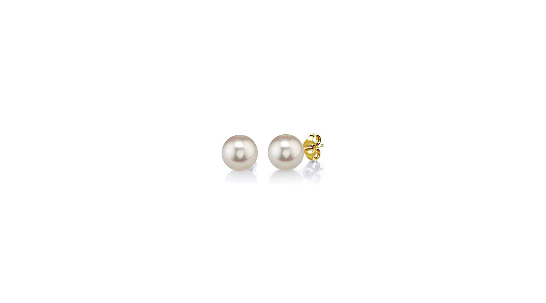 Pearl Source 14K Gold Freshwater Pearl Studs