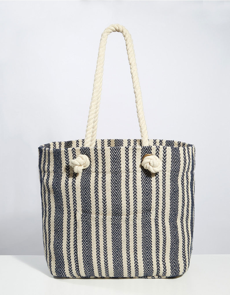 The White Company Stripe Oversized Beach Bag