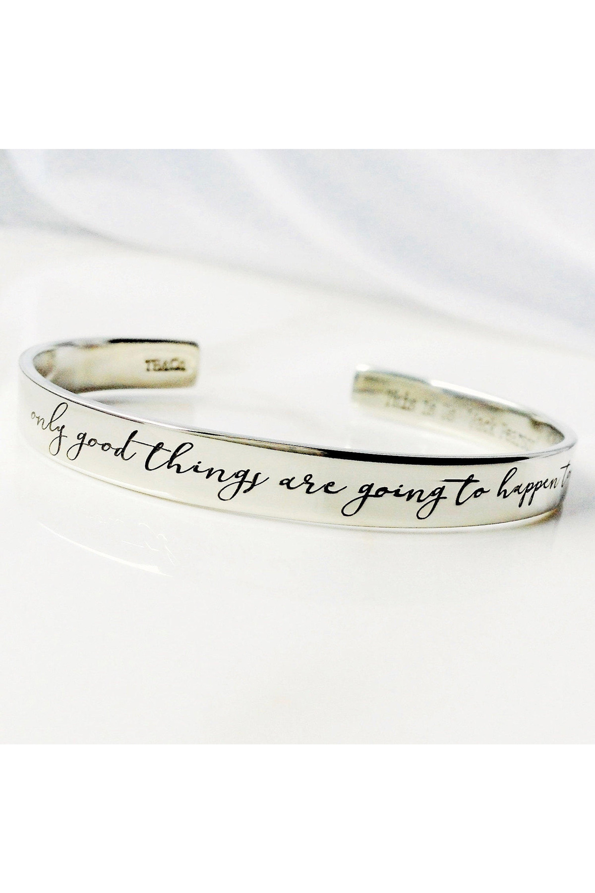"""""""Only Good Things Are Going to Happen Today"""" Bracelet"""