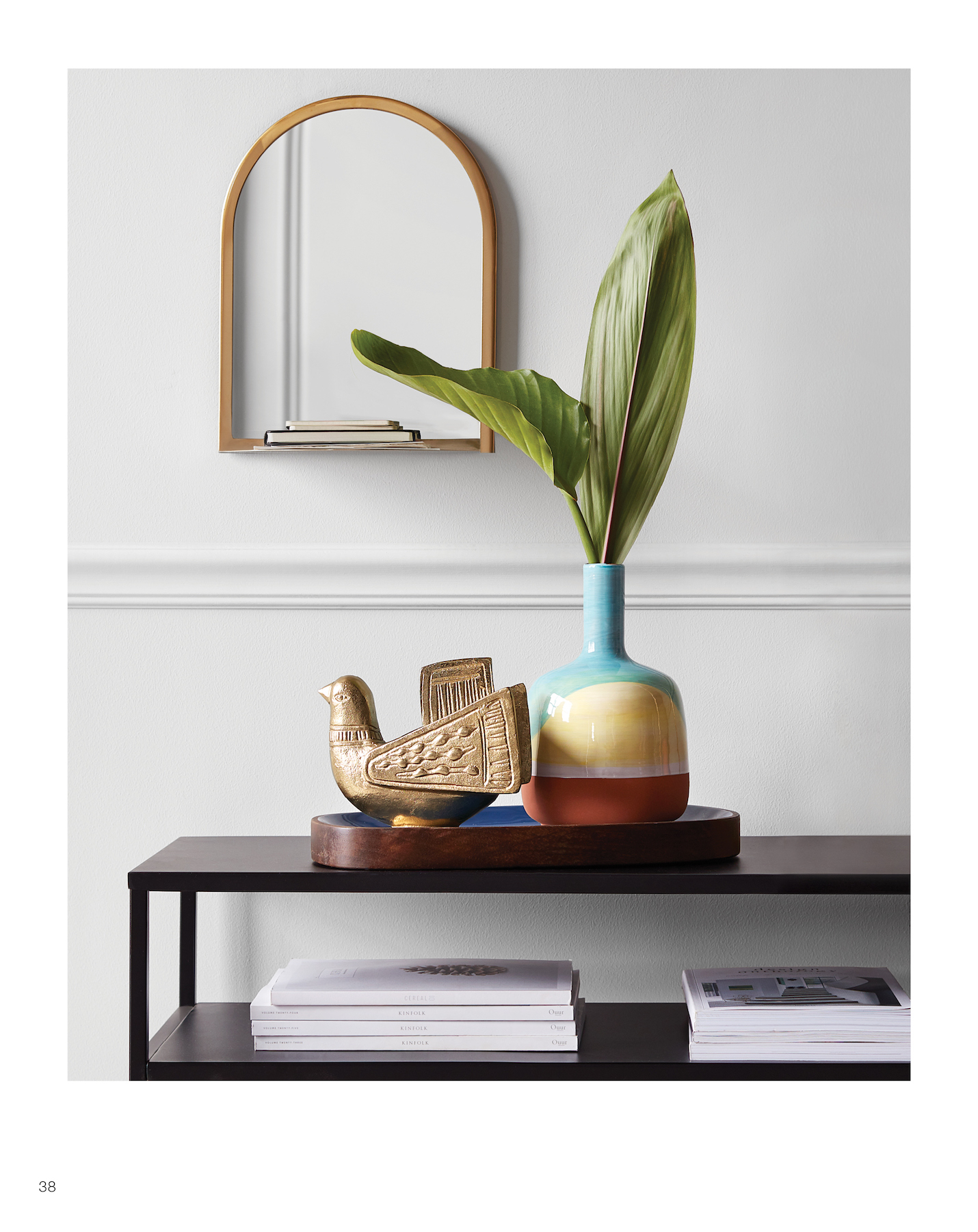Target Threshold collection rounded mirror