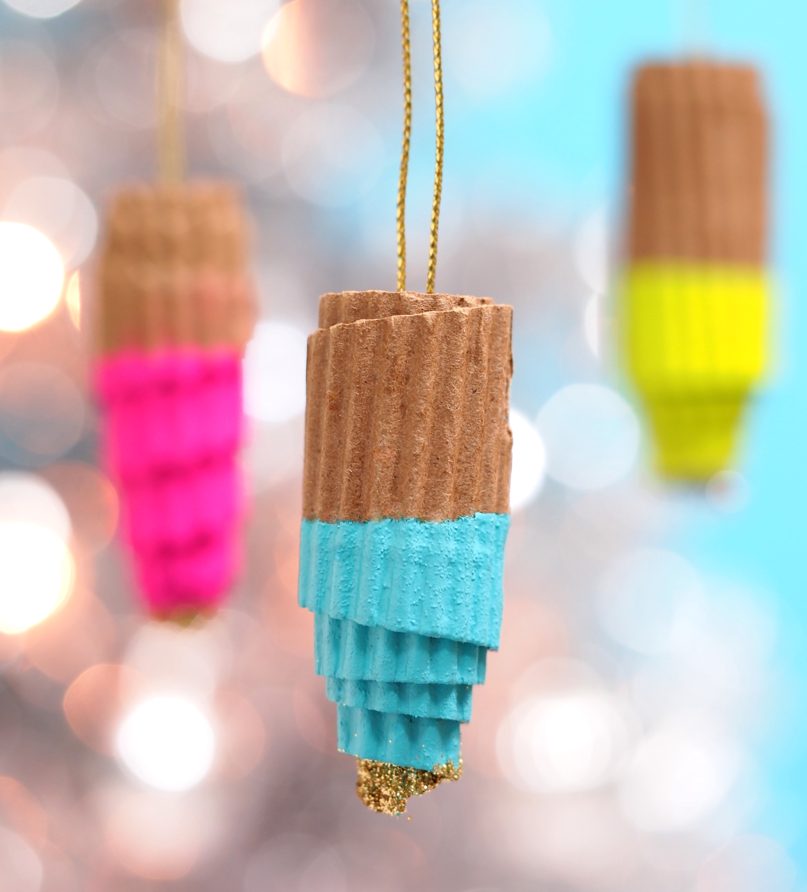 Coffee cup sleeve ornament