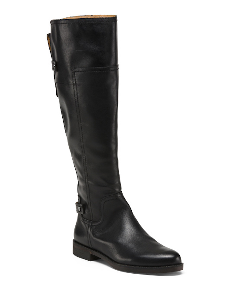 Black leather knee-high boots from T.J.Maxx