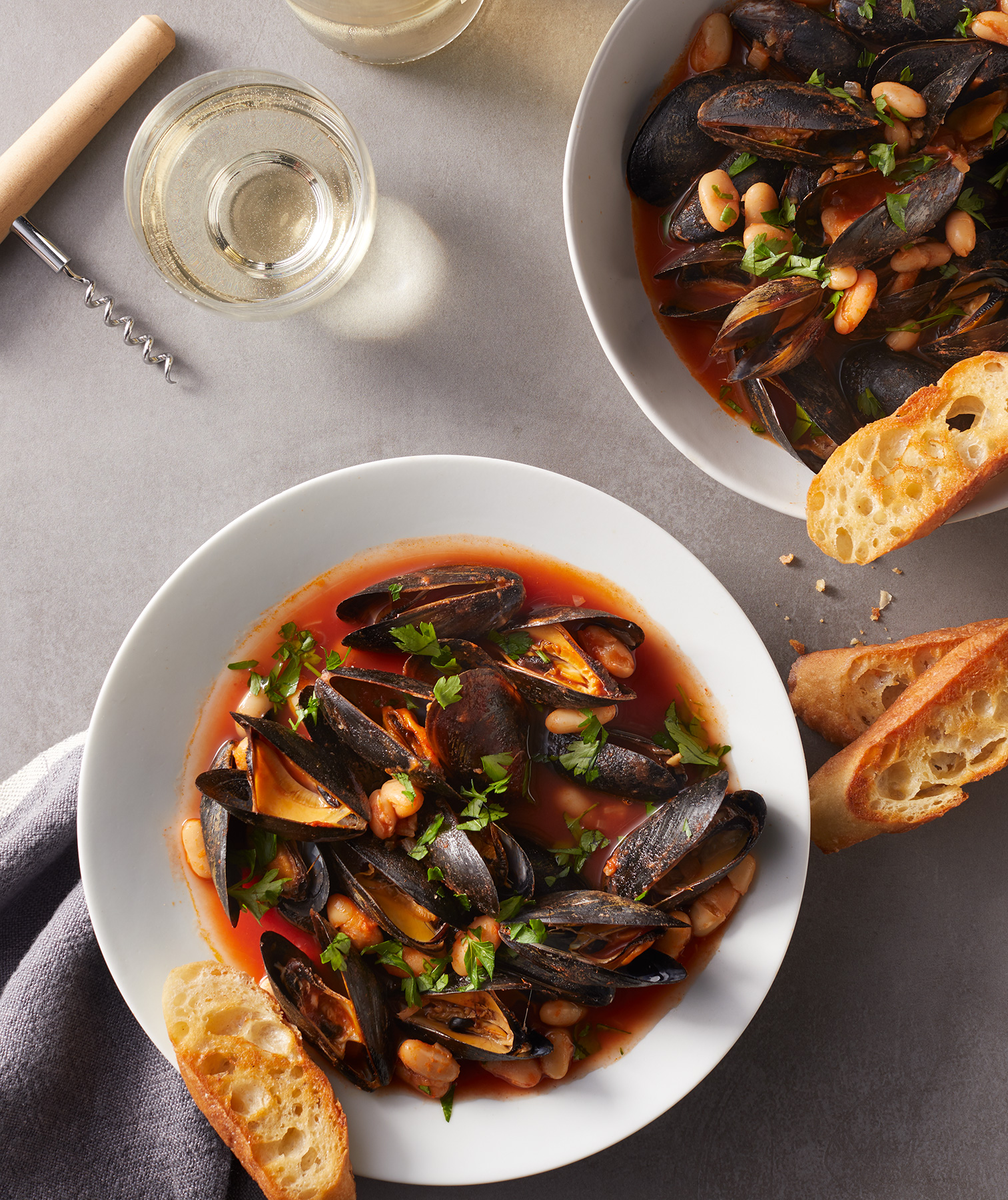 Creative Ways to Use Tomato Paste: Tomatoey Beans and Mussels