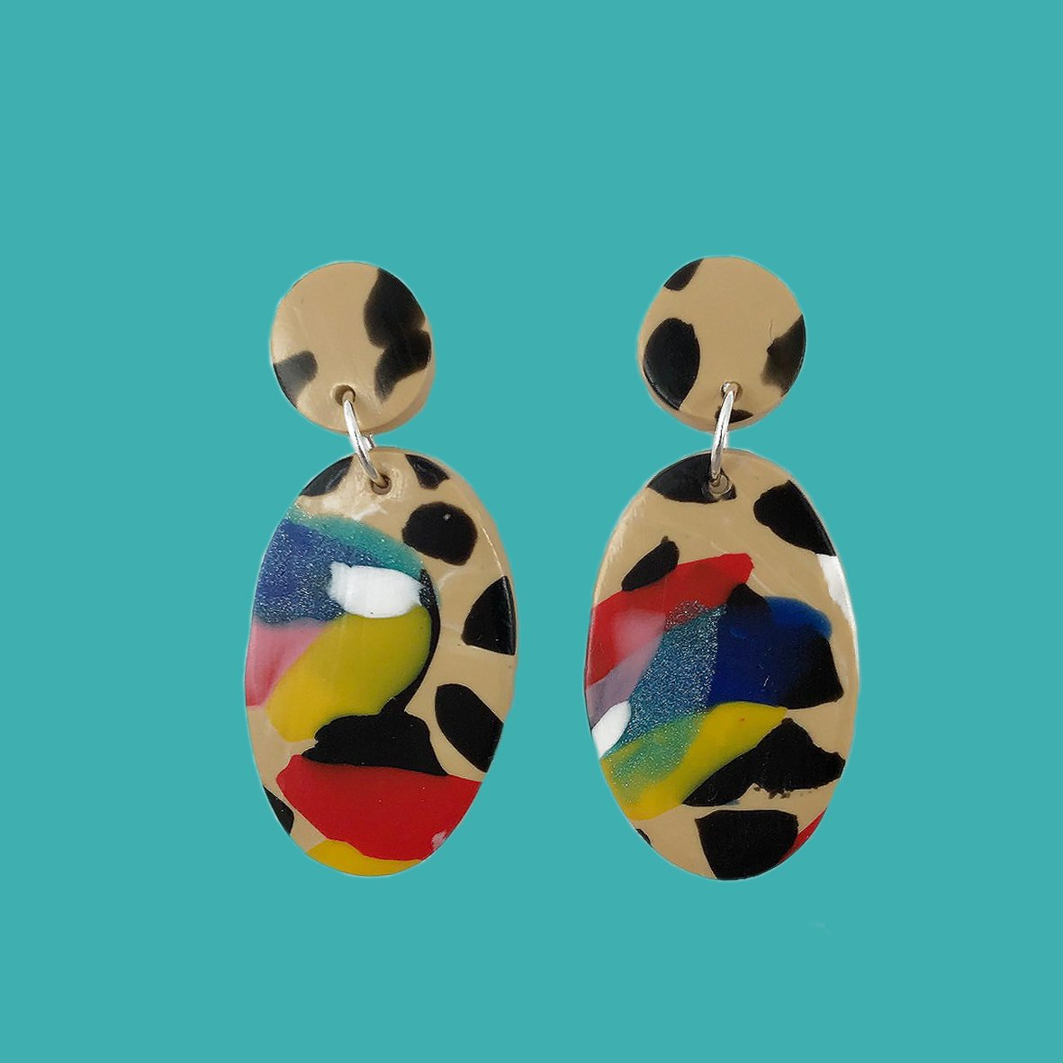 colorful earrings from Etsy