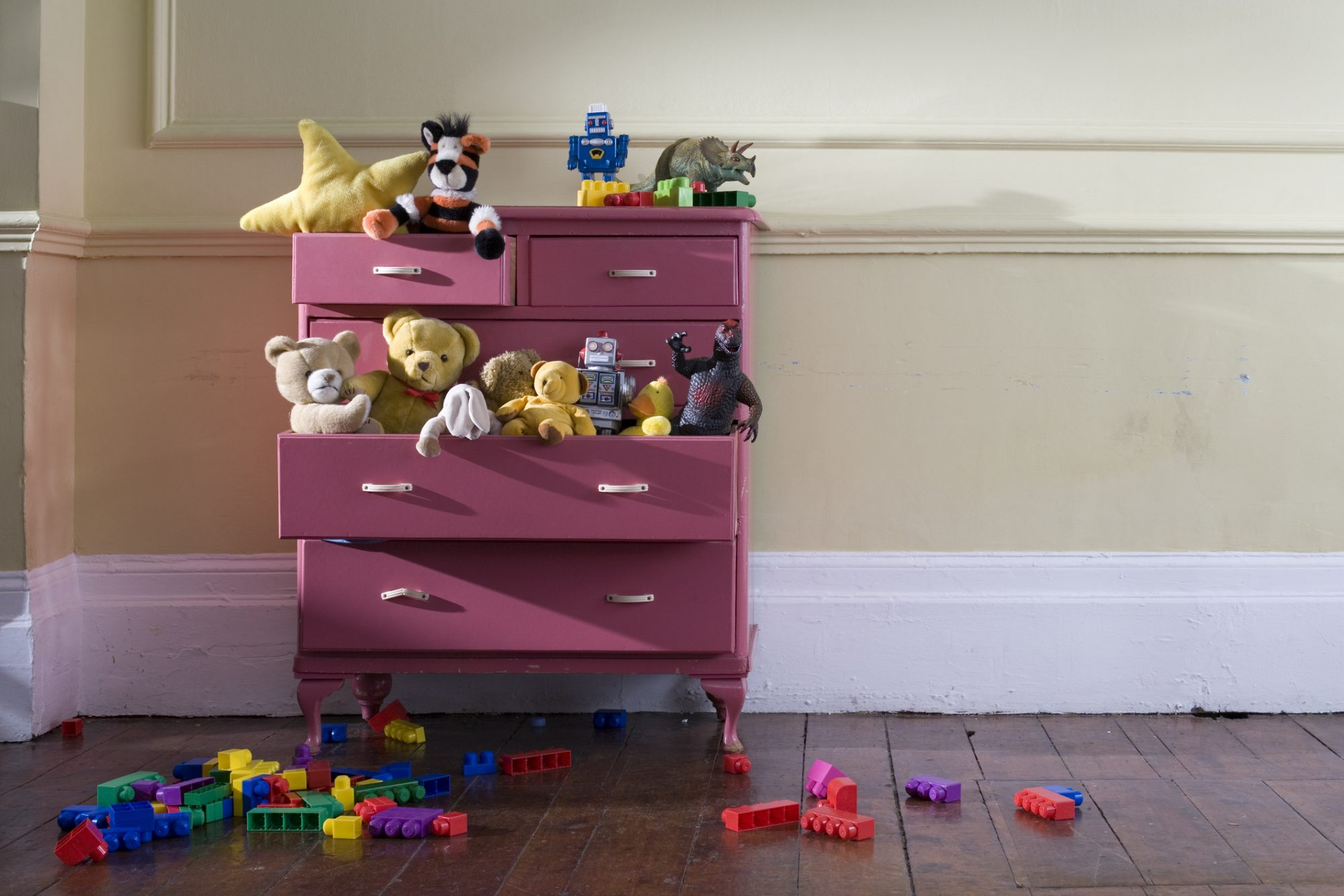 Toys in drawer