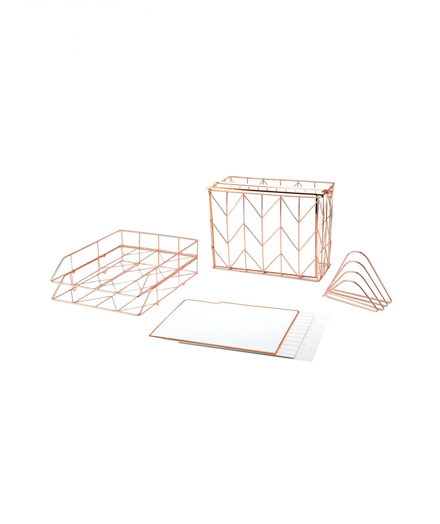 Rose Gold Desk Organizers