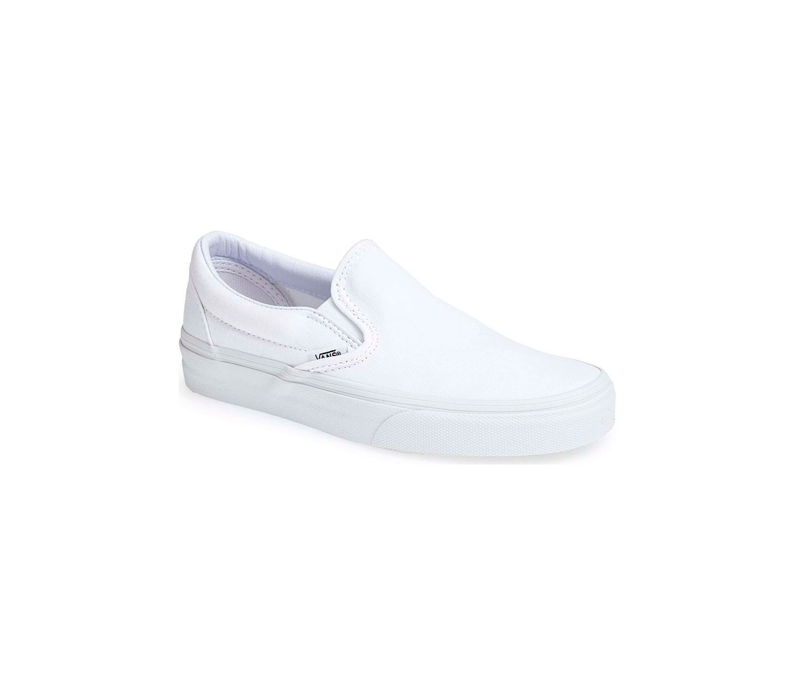 white canvas slip-on sneaker