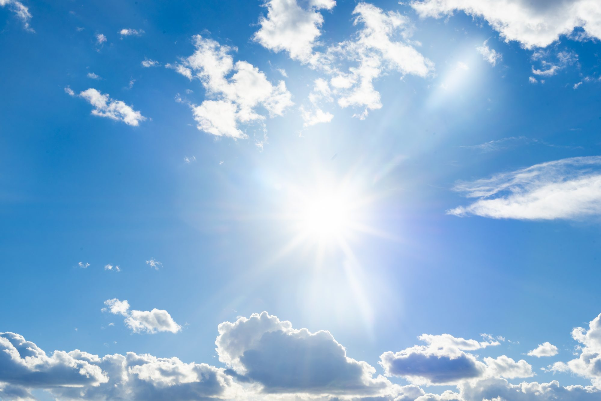 The sun shines brightly in the blue sky: vitamin d deficiency