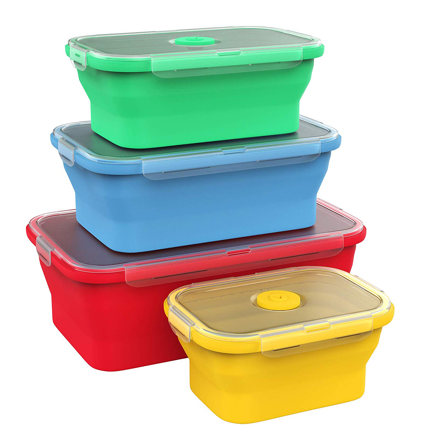 Vremi Silicone Food Storage Containers with BPA Free