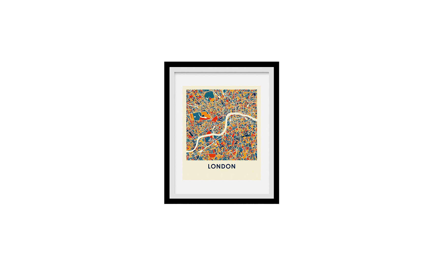 I Like Maps London, England, Full Color City Map Print