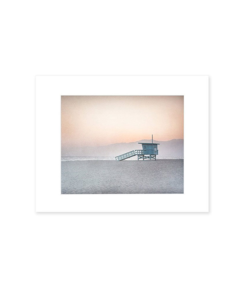 "Santa Monica 8"" x 10"" Matted Print ""Lifeguard Tower"""