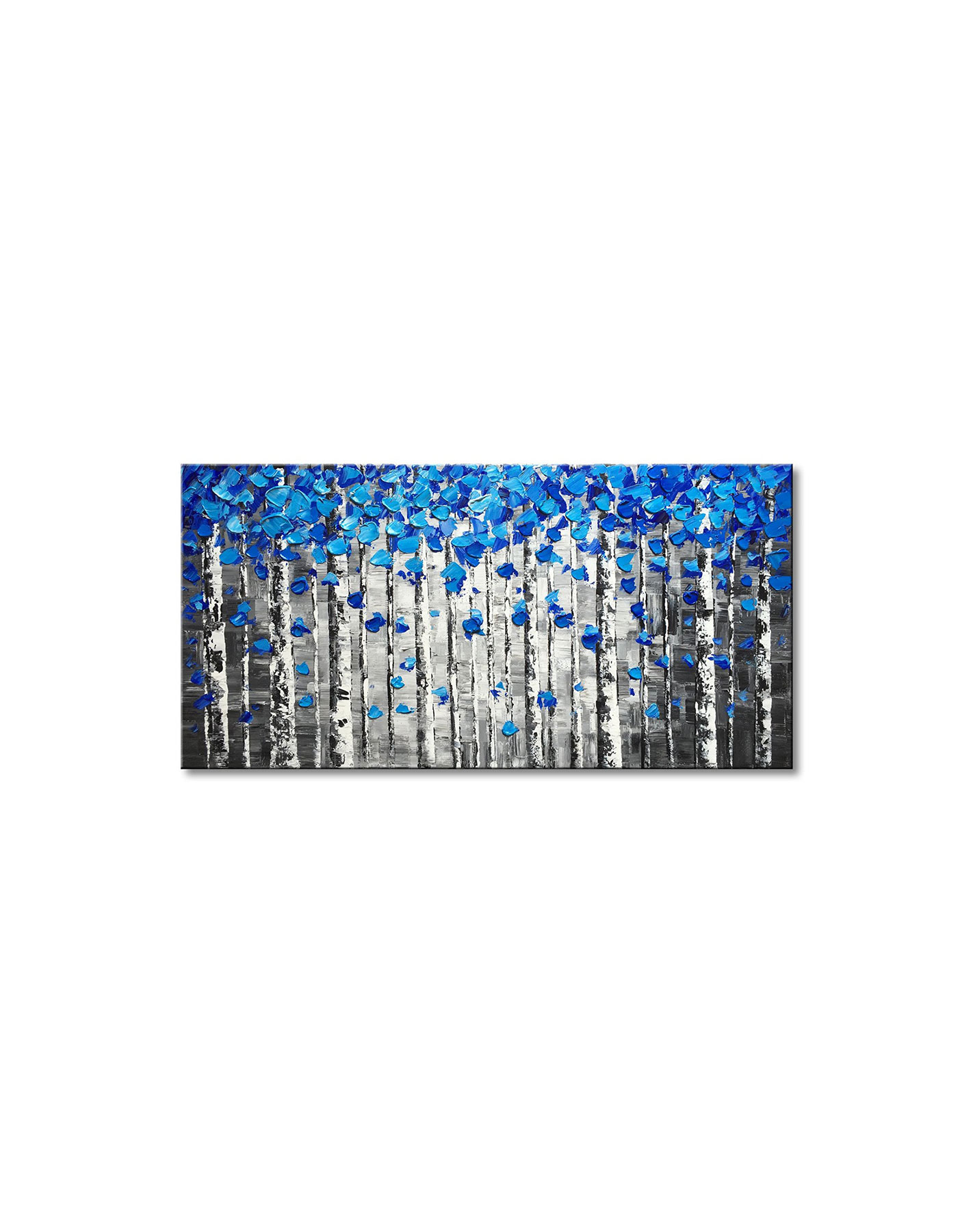 Winpeak Art Textured Forest Abstract Canvas Wall Art