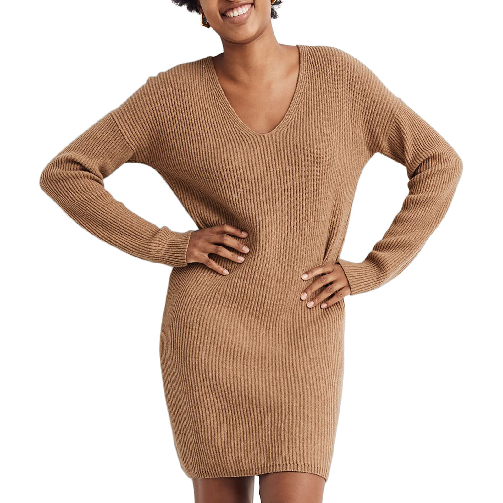 Warm Clothes for Women: Madewell Relaxed Long Sleeve Sweater Dress