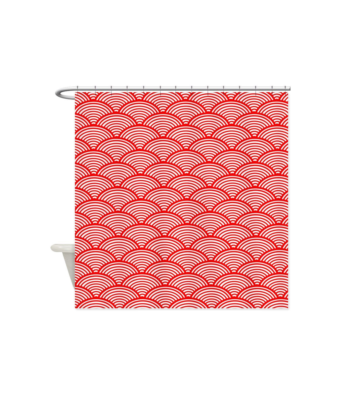 CafePress Japanese Wave Pattern Shower Curtain