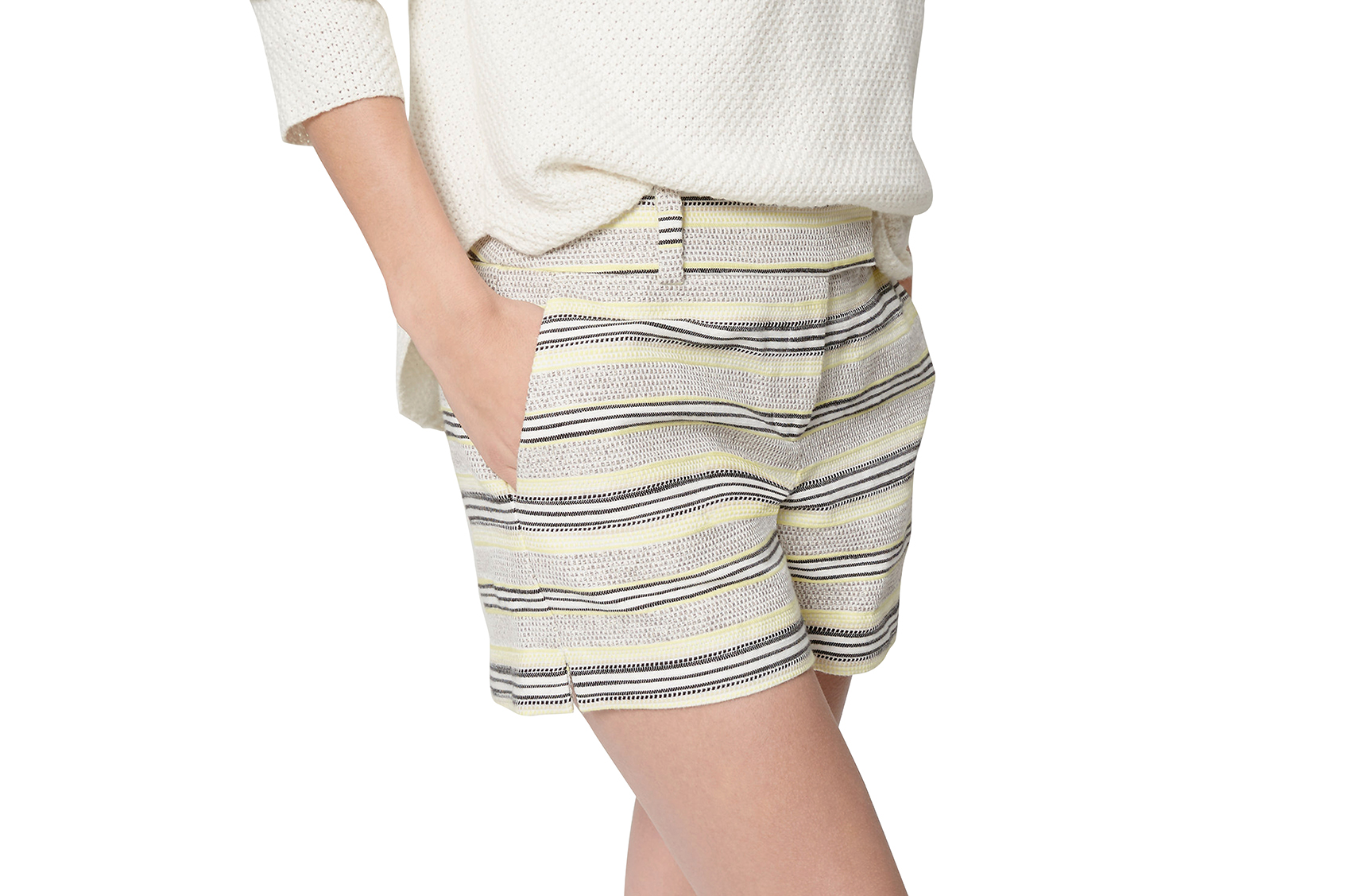 Loft Striped Tweed Riviera Shorts