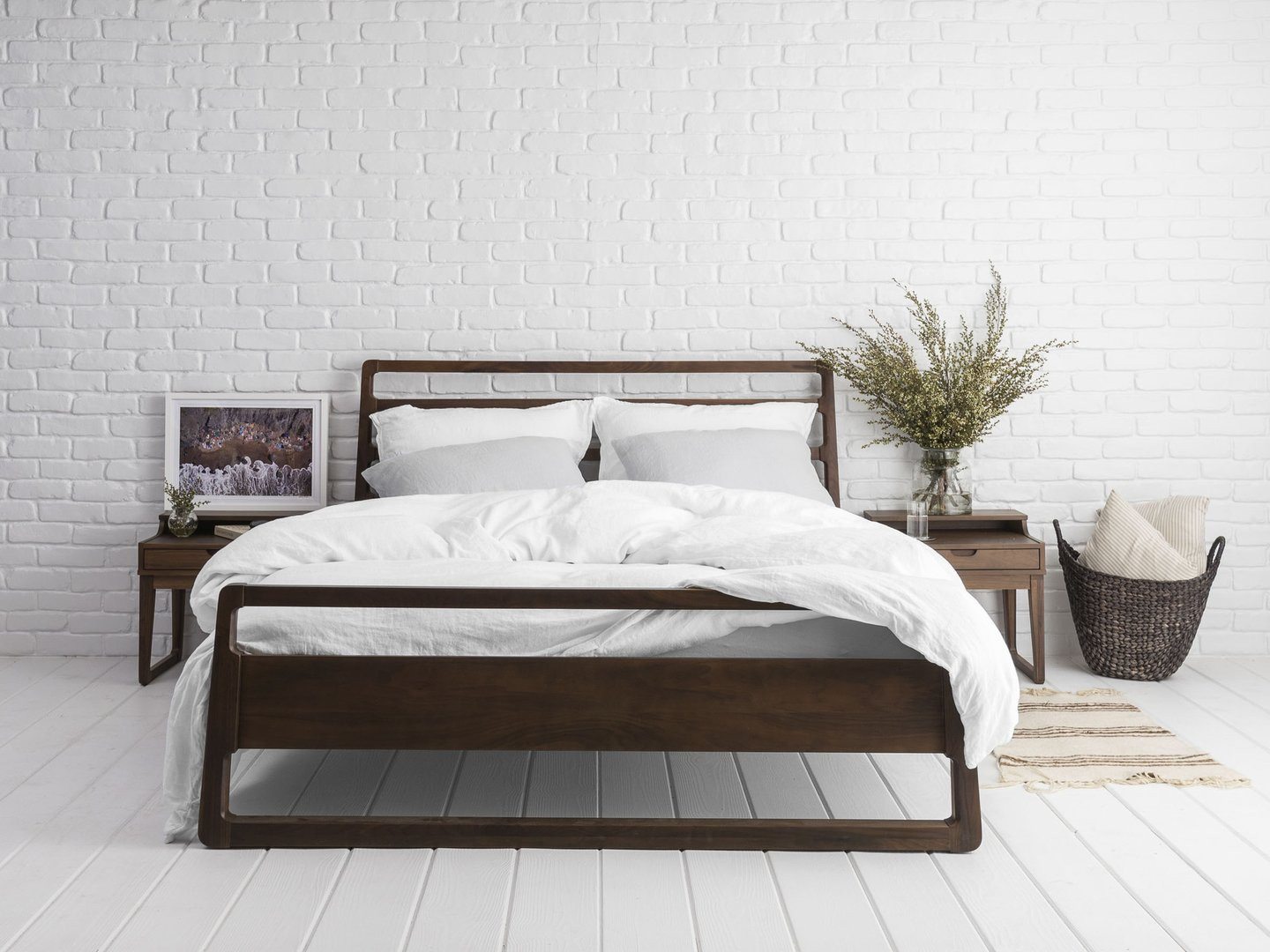 White Linen Duvet Cover on Bed