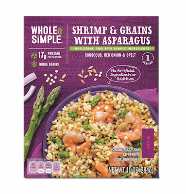 Whole & Simple Shrimp & Grains Single Serve Meals