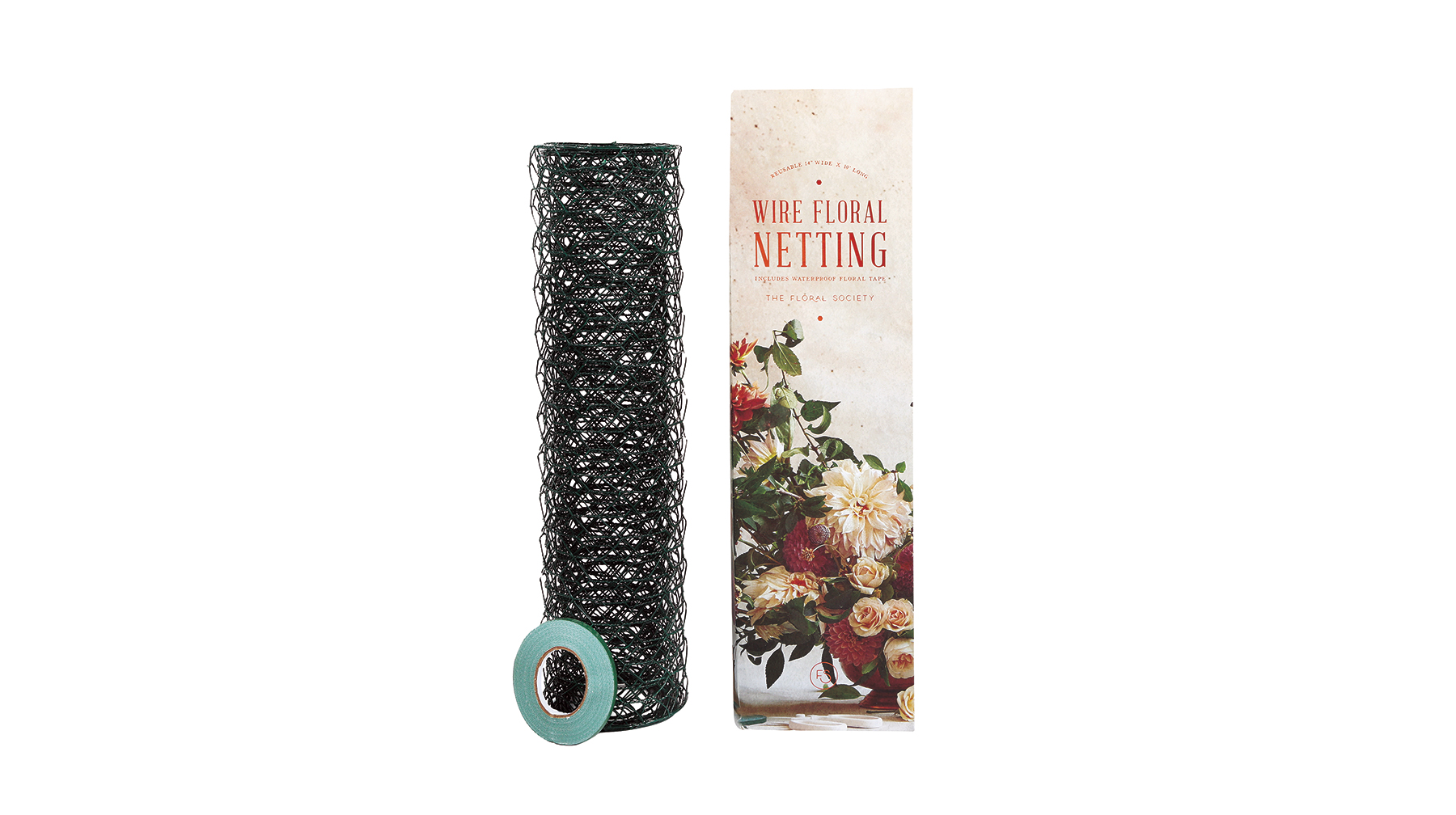Wire Floral Netting & Floral Tape Set