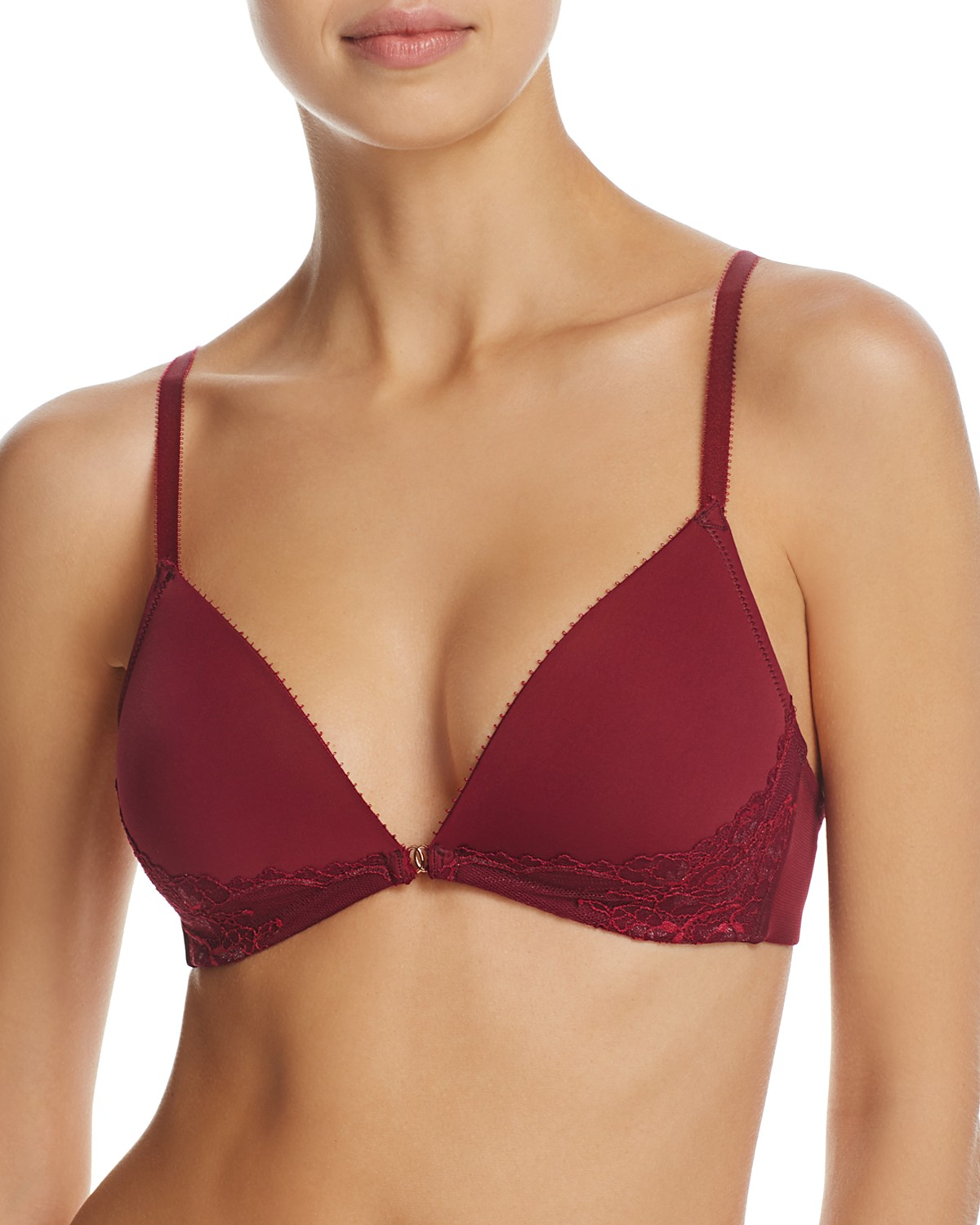 wireless red bra
