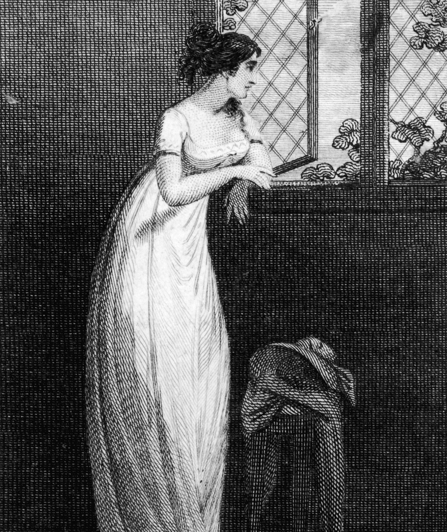 Drawing of woman in 1808