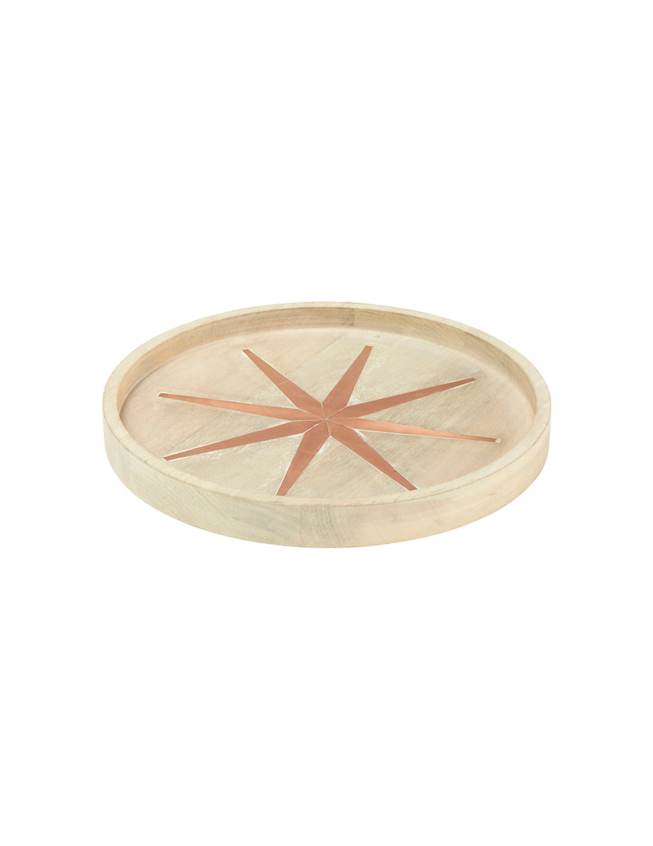 Wood and Copper Star Tray