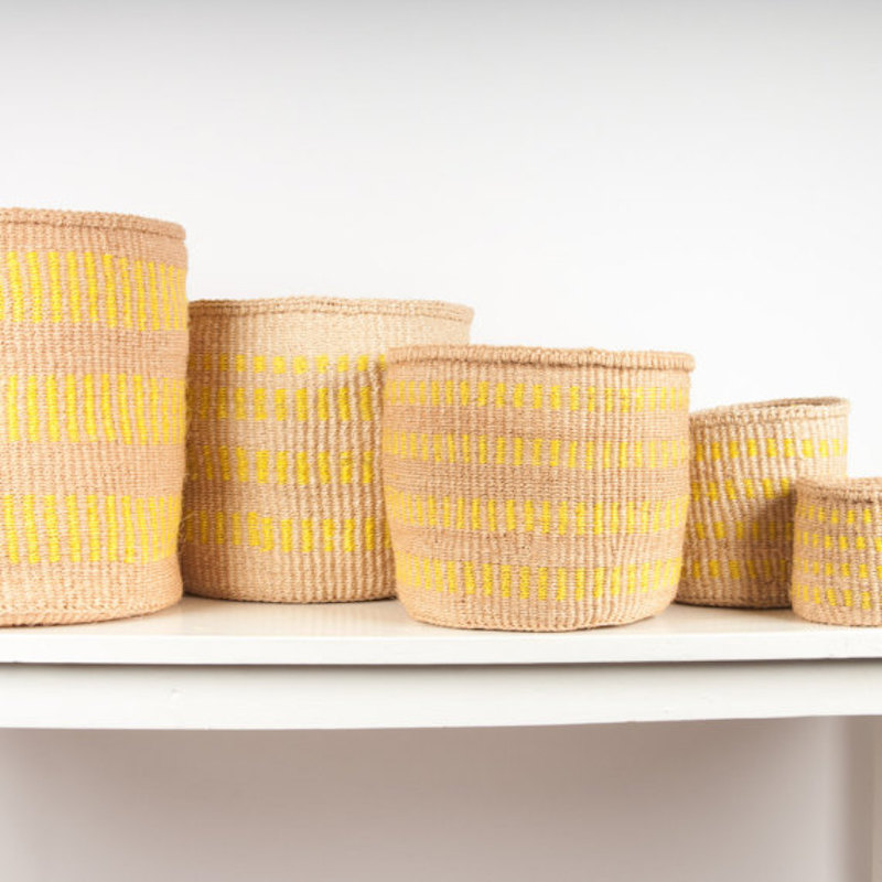 Gen Z Yellow Woven Baskets