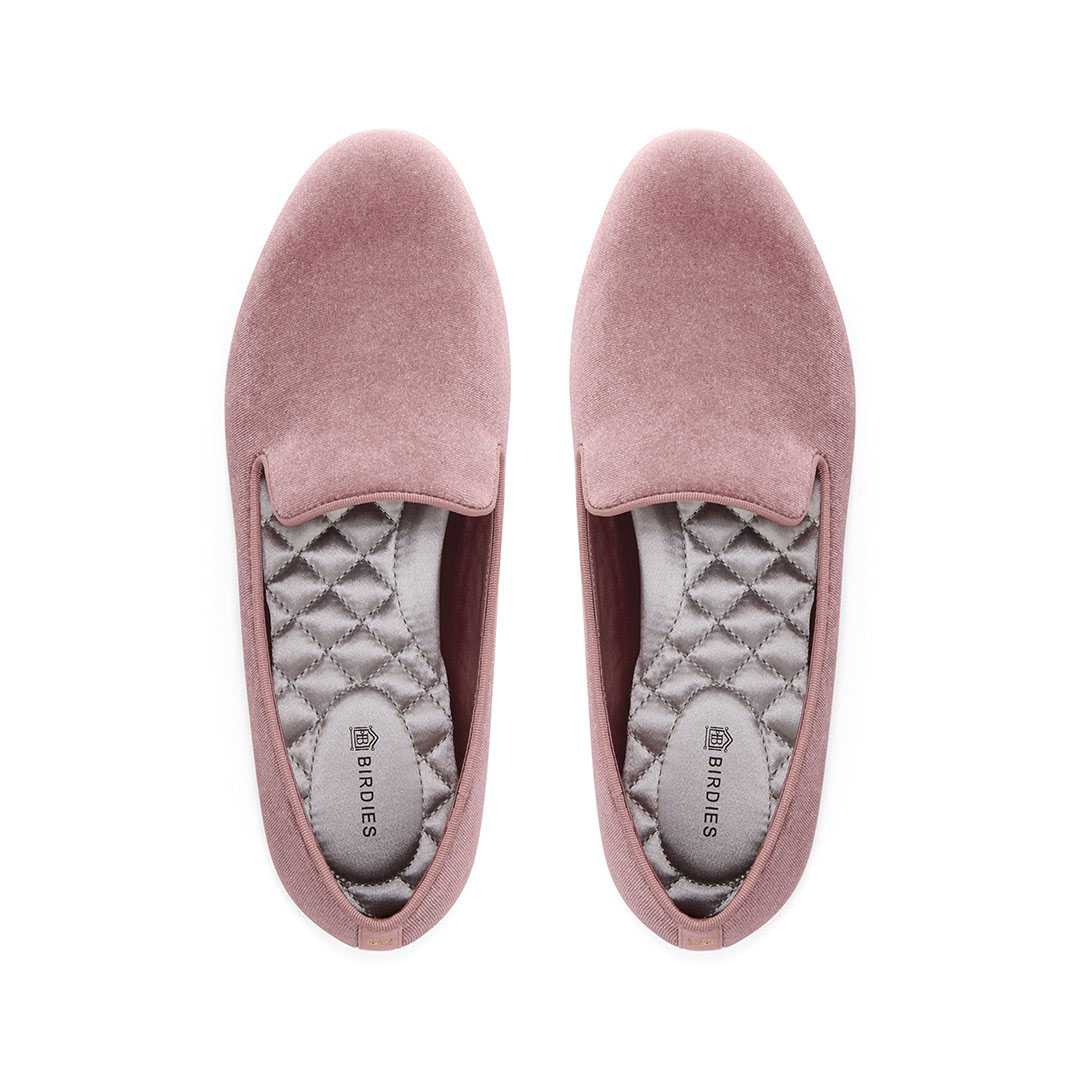 High school graduation gifts - birdies slippers in pink velvet