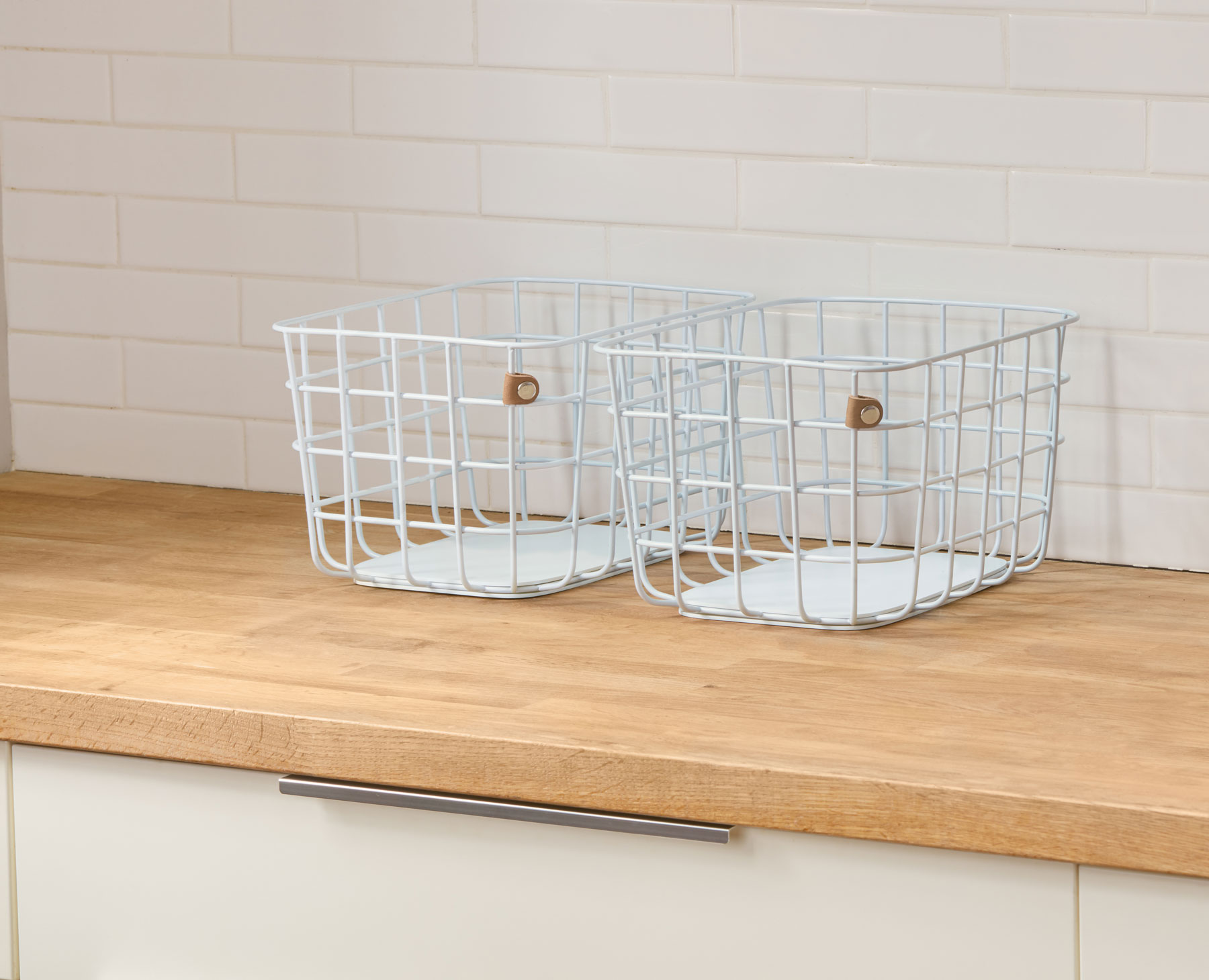 High school graduation gifts - open spaces wire baskets in white (medium)