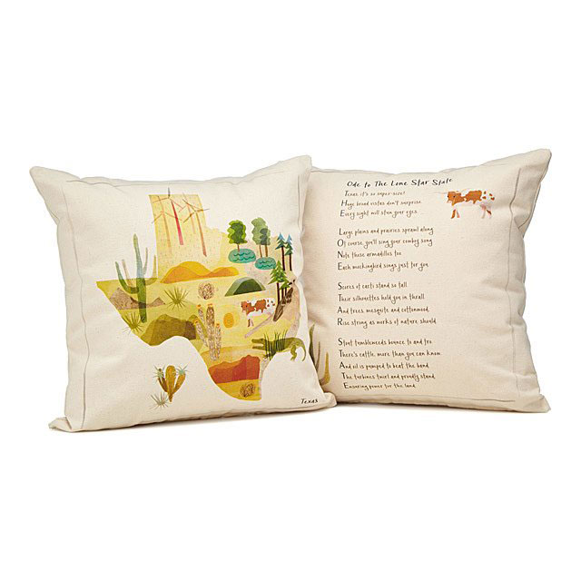 High school graduation gifts - state illustration poem pillows