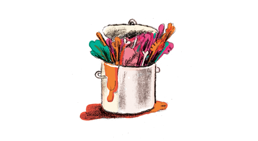 Illustration: too many things in a pot