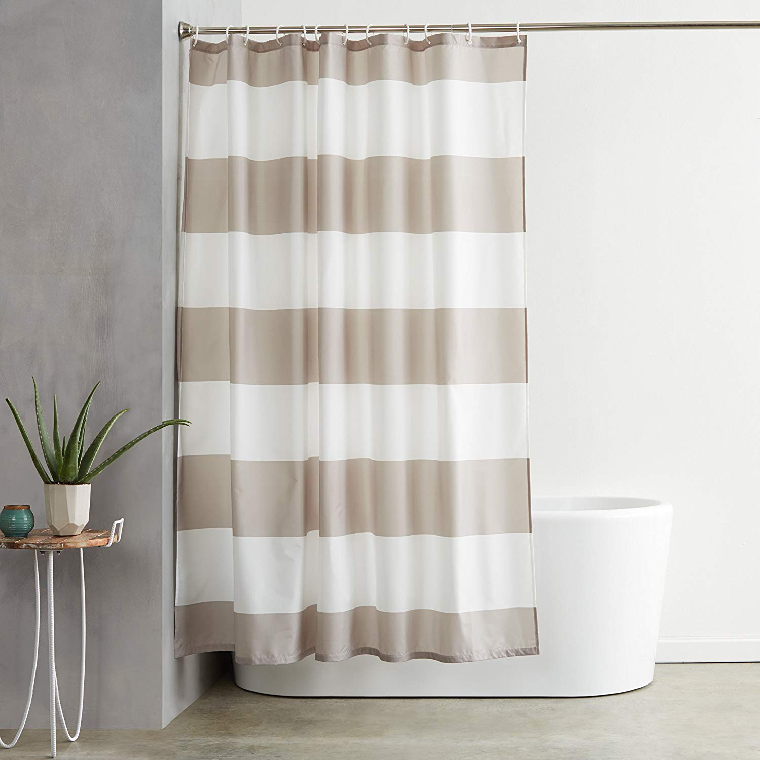 AmazonBasics Shower Curtain and Liner