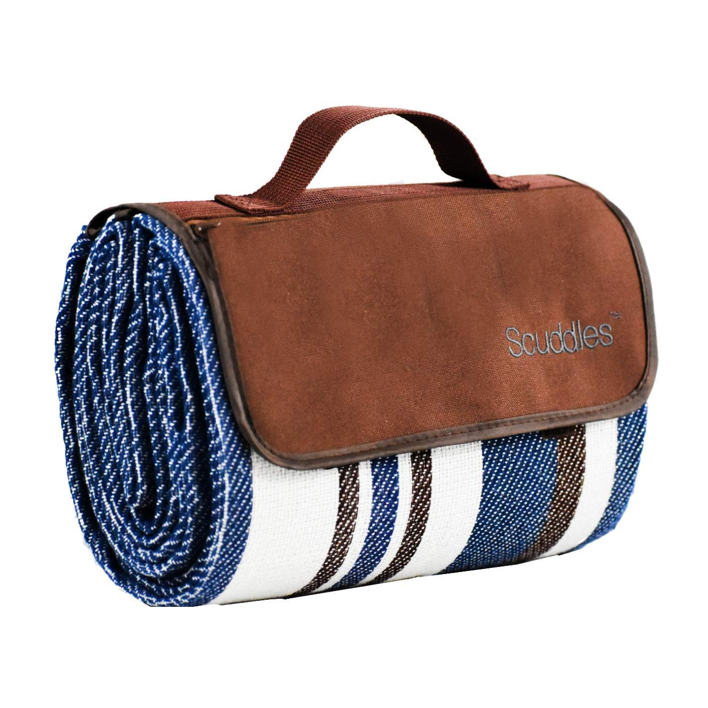 Blue and White Striped Extra Large Picnic & Outdoor Blanket