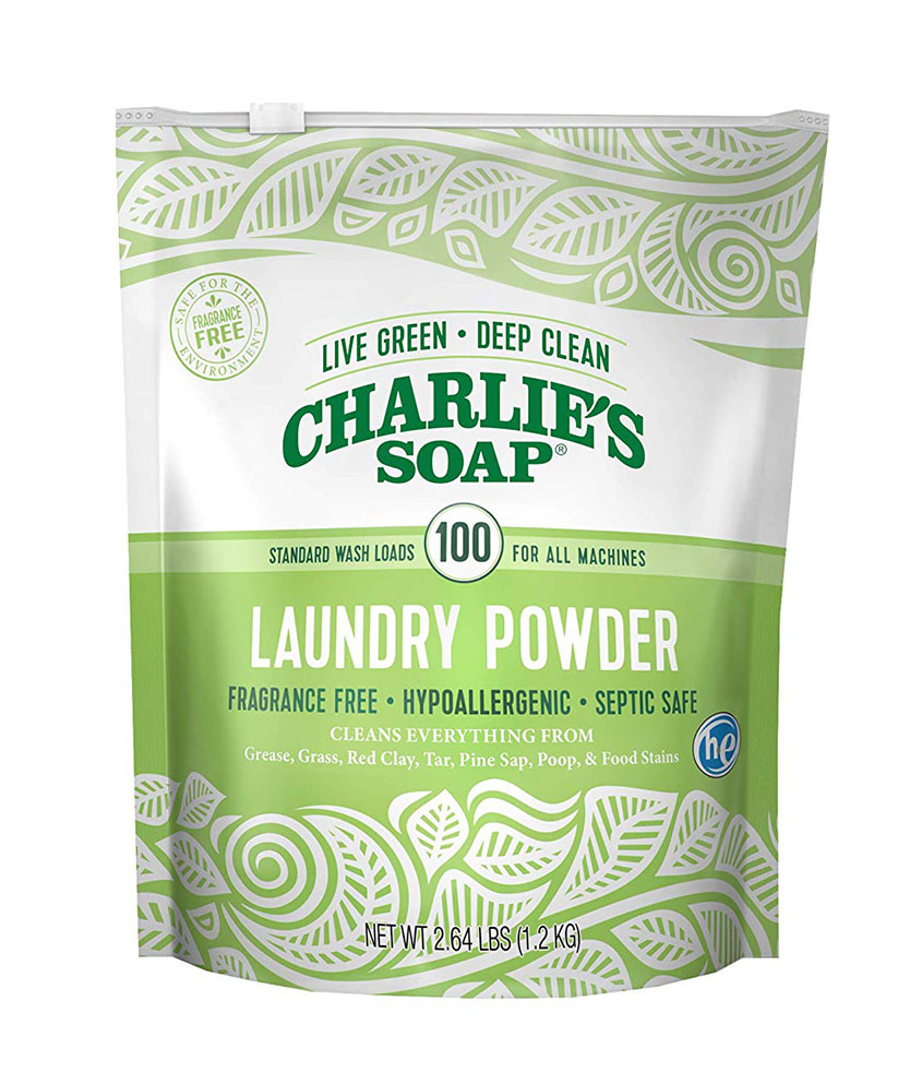 Charlie's Soap Fragrance Free Powdered Laundry Detergent, 100 Loads