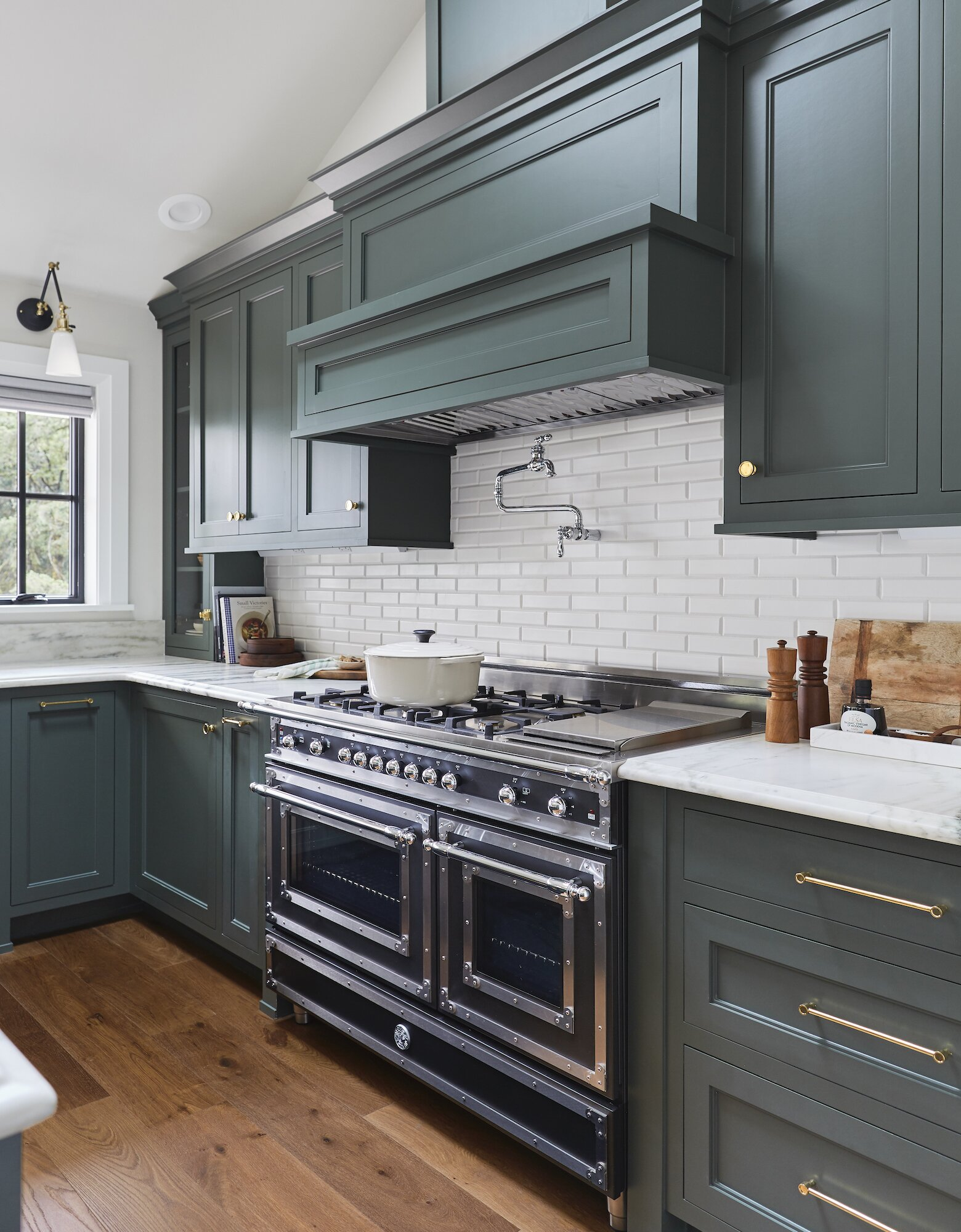Pewter Green kitchen by Emily Henderson