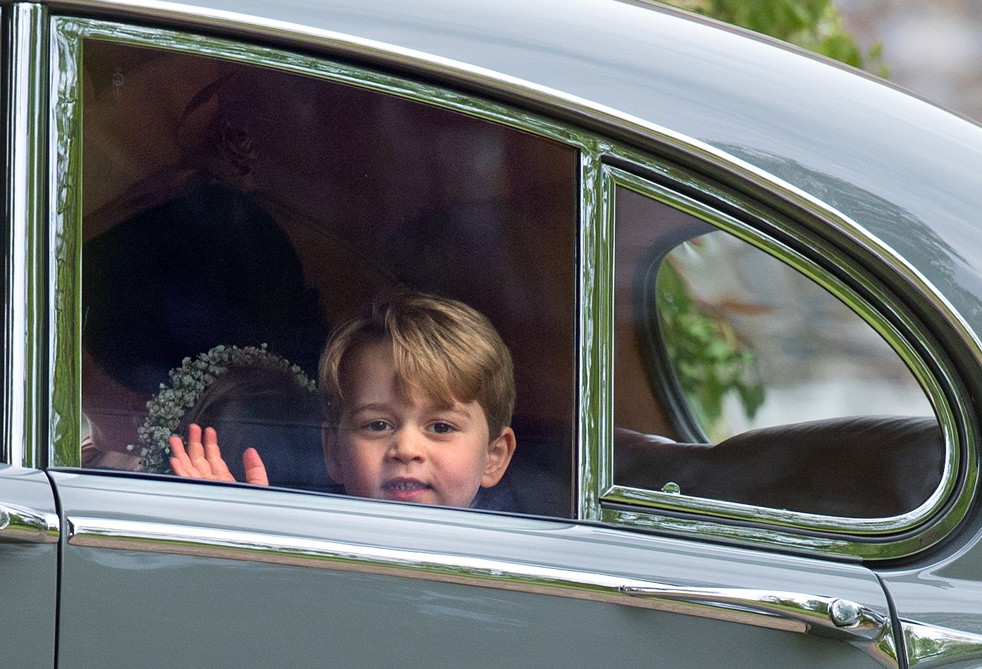 Prince George Looking Out of Car Window