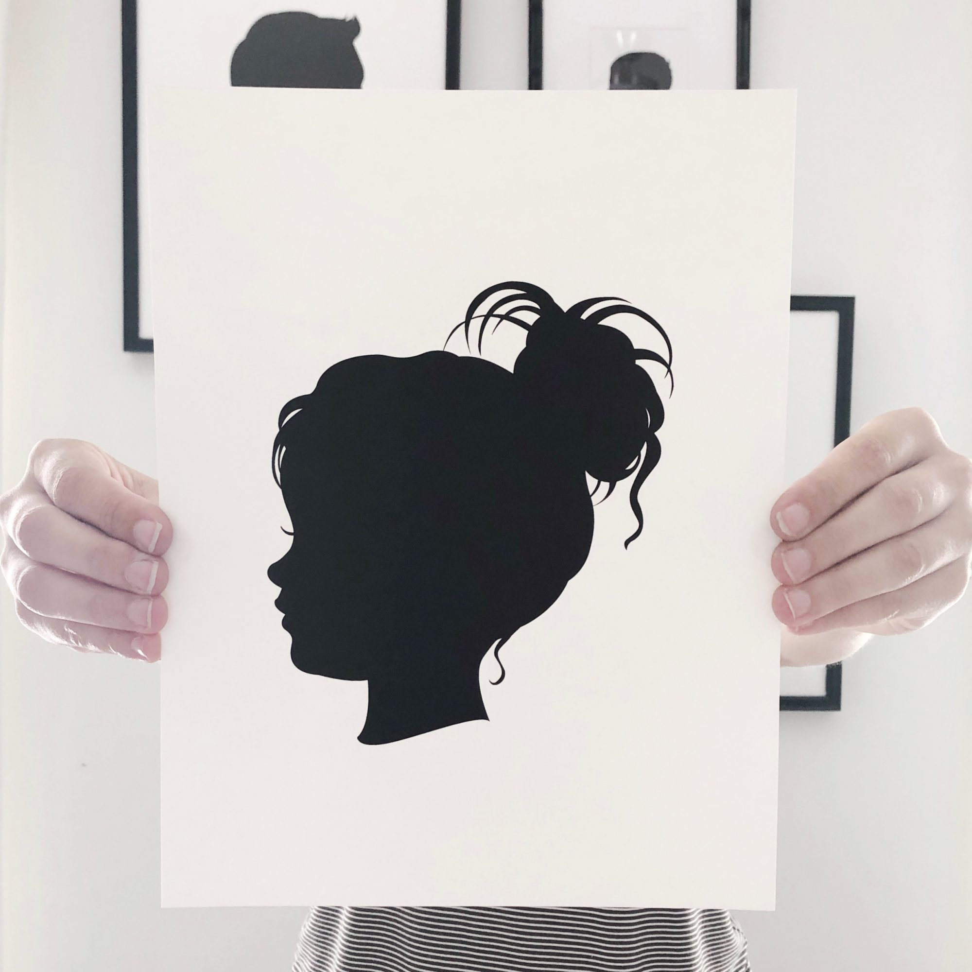 how to make a silhouette drawing, silhouette of a girl