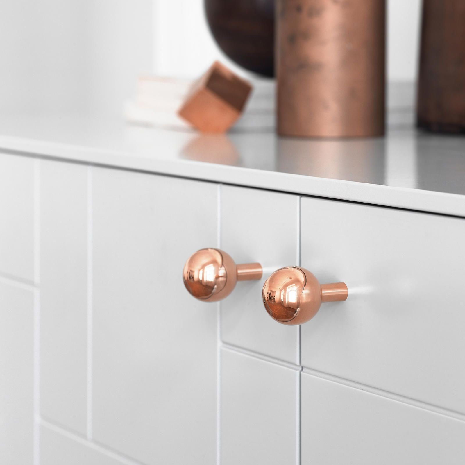 IKEA replacement knobs in copper