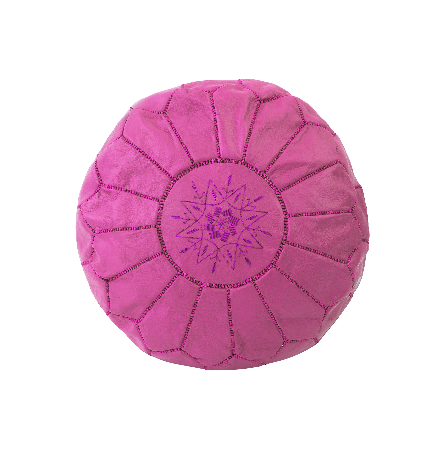 Ottoman Pouf in hot pink