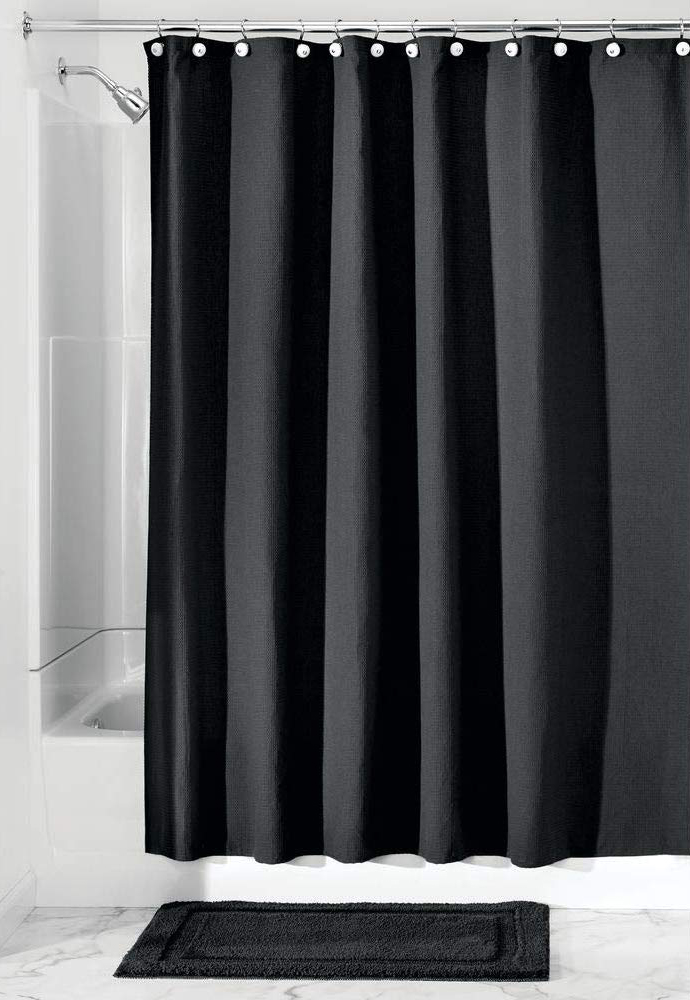 mDesign Hotel Quality Polyester/Cotton Blend Fabric Shower Curtain