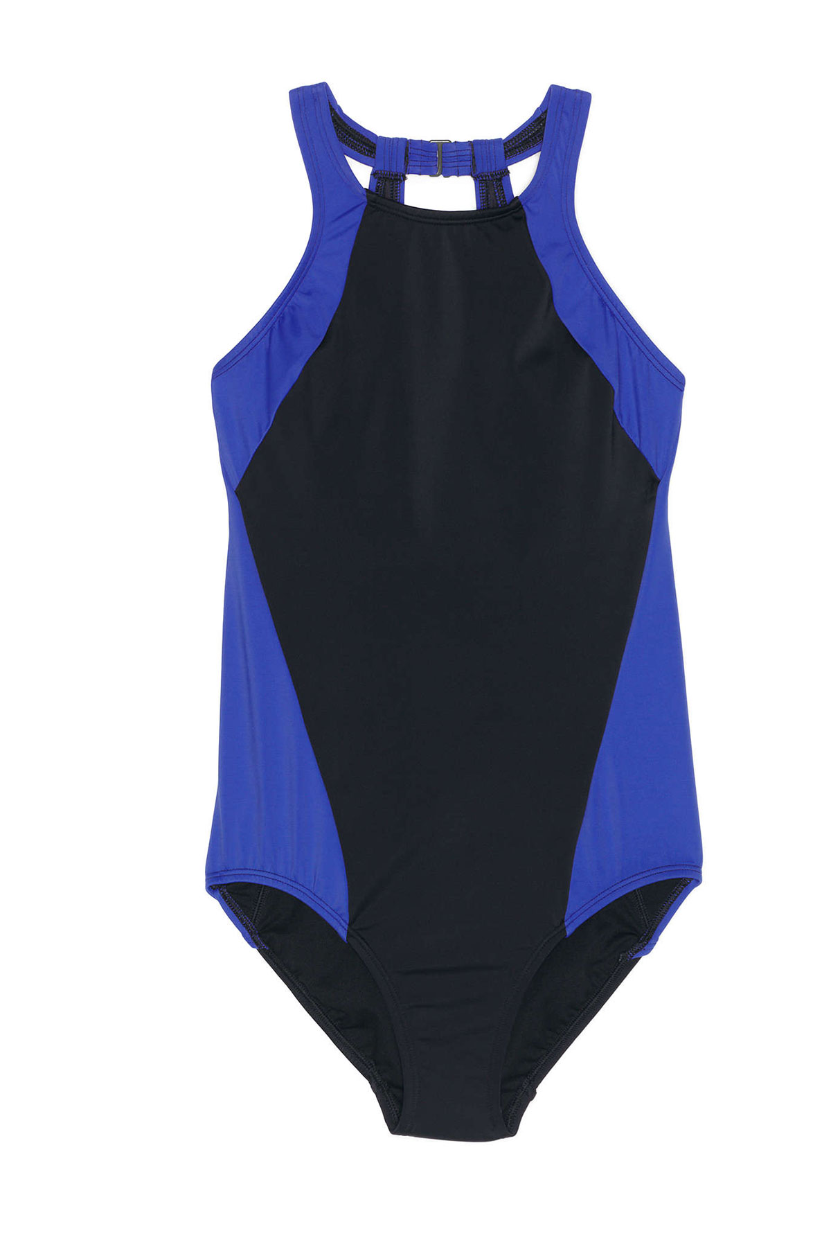 Lands' End High Neck One-Piece Swimsuit