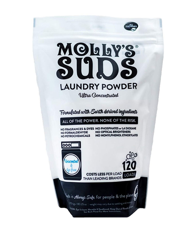 Molly's Suds Unscented Laundry Detergent Powder, 120 Loads