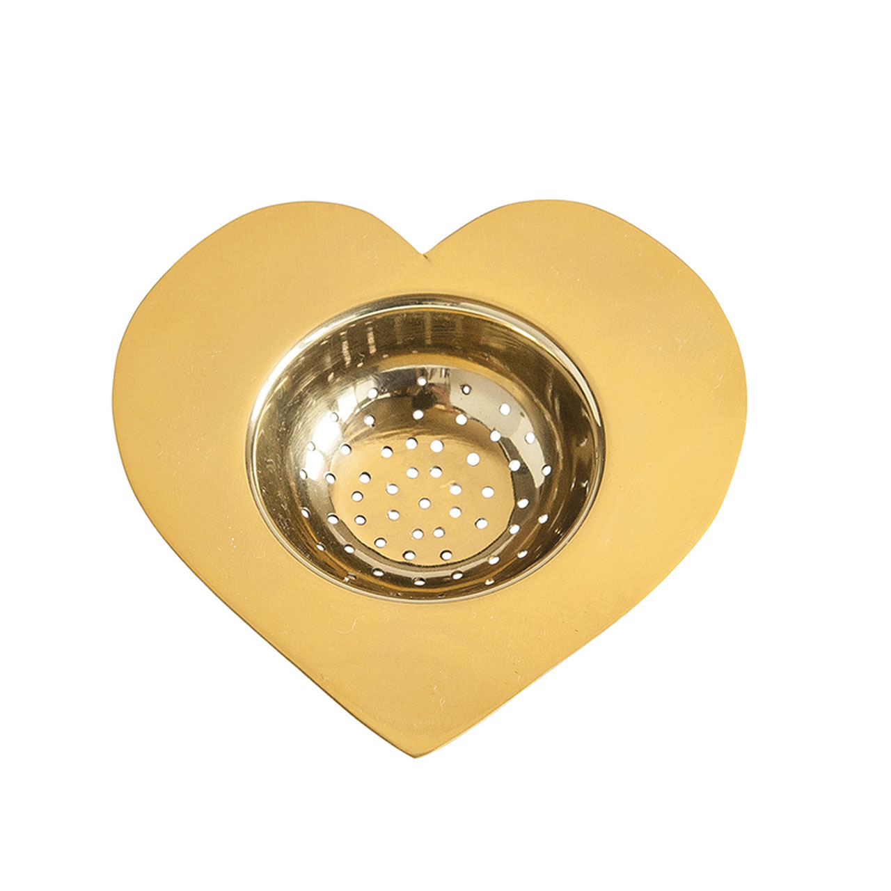 Mother's Day gifts - Brass Heart Tea Strainer