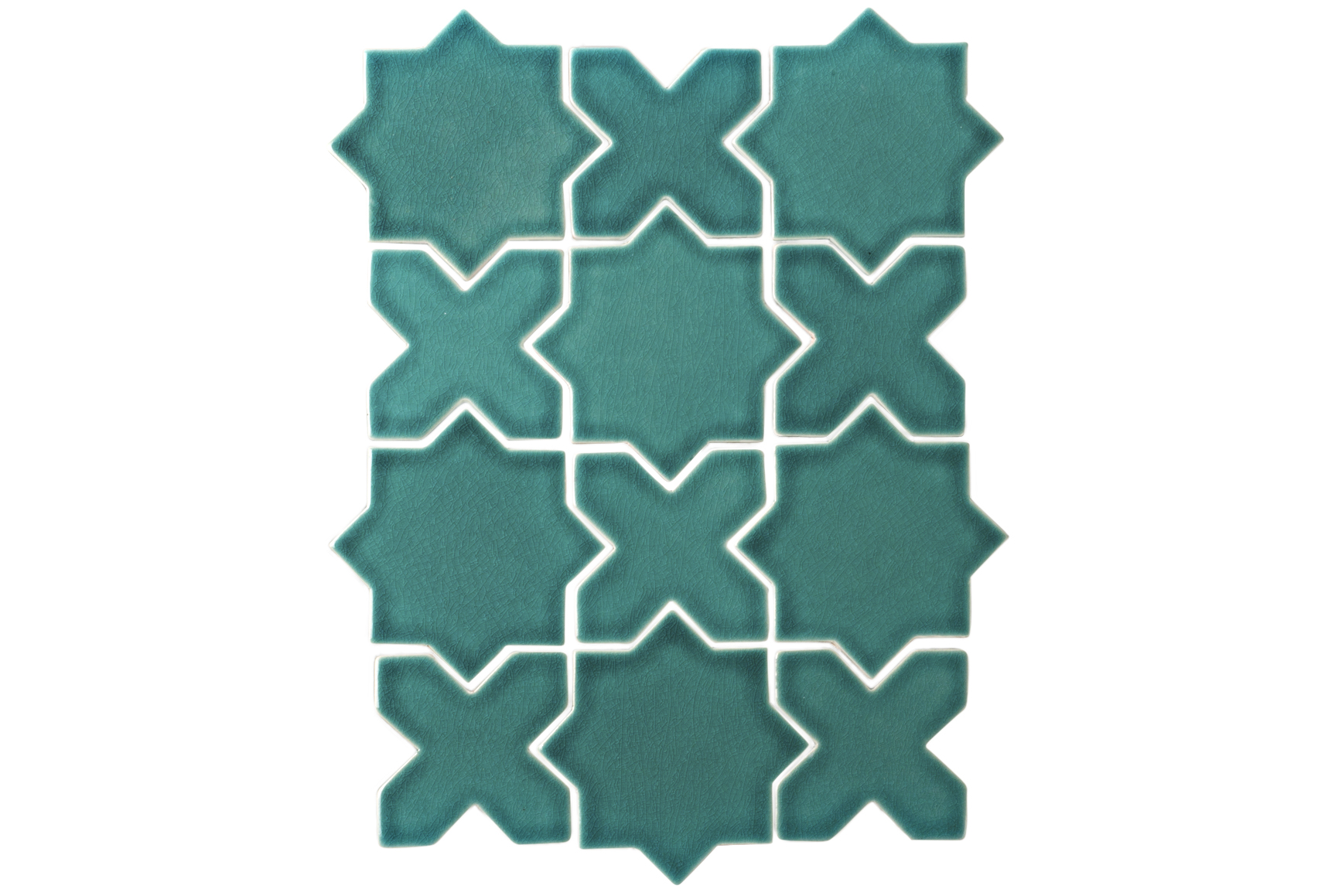 Emerald Mini Star and Cross Tiles
